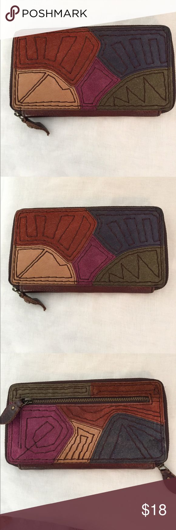 LUCKY Wallet In super condition! 2 zippered change pockets 2 currency sleeves and 8 card slots. I welcome reasonable offers! I ship the same or next business day! Lucky Brand Bags Wallets