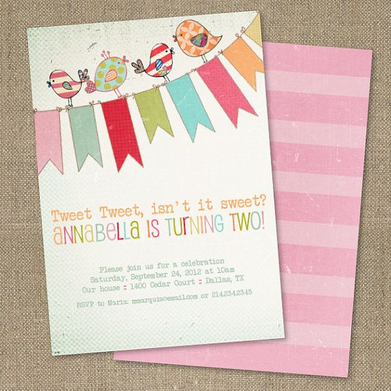 PRINTABLE Vintage Little Birdie birthday party by chachkedesigns, $10.00