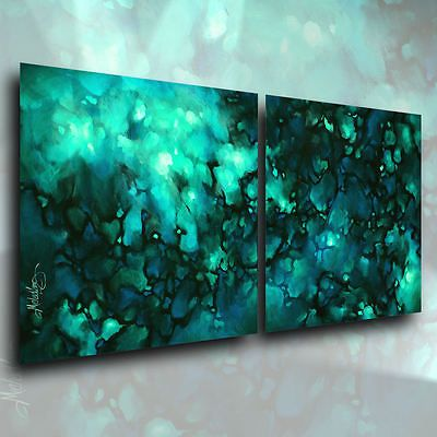 Abstract Art Painting 24 x 48 Contemporary DECOR Michael Lang certified original