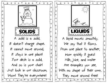 Liquid and Solid Snowman Poems - love!