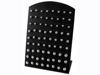 Stand με 36 ζευγάρια σκουλαρίκια μπίλιες ατσάλινα [JEW-15]