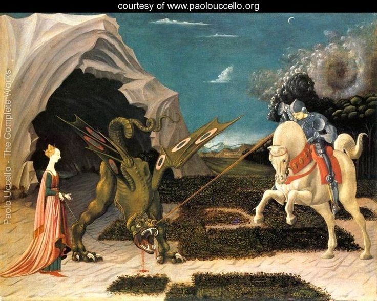 ST GEORGE DRAGON   St. George and the Dragon c. 1456 - Paolo Uccello - www.paolouccello ...