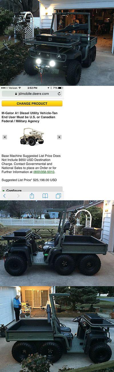 Power Sports ATVs UTVs: John Deere 6X4 Diesel M-Gator A1 Military Use All Terrain Vehicle, Utv, Atv BUY IT NOW ONLY: $16900.0