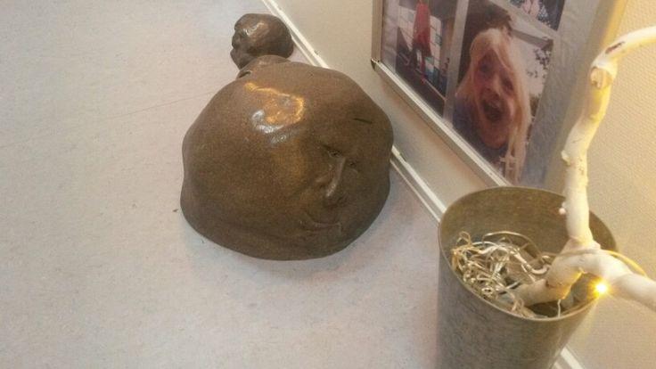 Skulptur i gangen