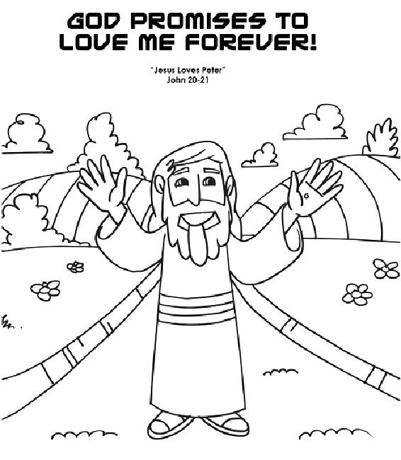 coloring pages showing god's love
