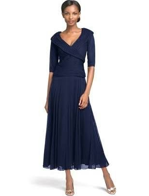 plus size mother of the groom tea length dresses - Google Search