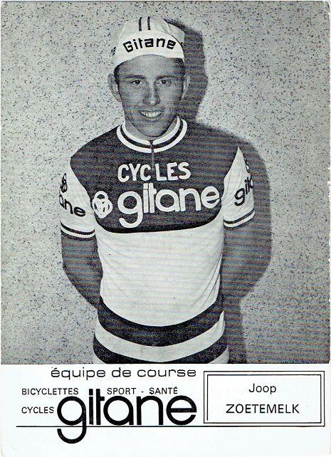 Joop Zoetemelk, reed in 1973 op 'Cycles Gitane'.