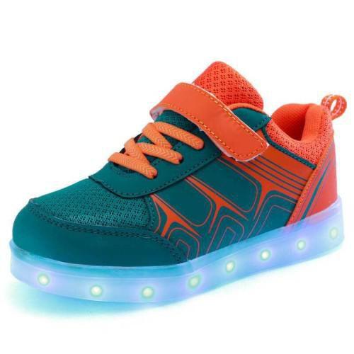 Kids LED Shoes 3 multicolor Velcro Dance Sneakers