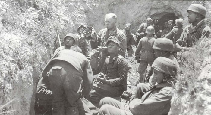 Fallschirmjagers on the opening of the invasion of the Island of Crete. Crete was the downfall for any further major jumps for the Fallschirmjager. Not only was the civilian populace committing to guerrilla/partisan warfare against the FJs, the...pin by Paolo Marzioli