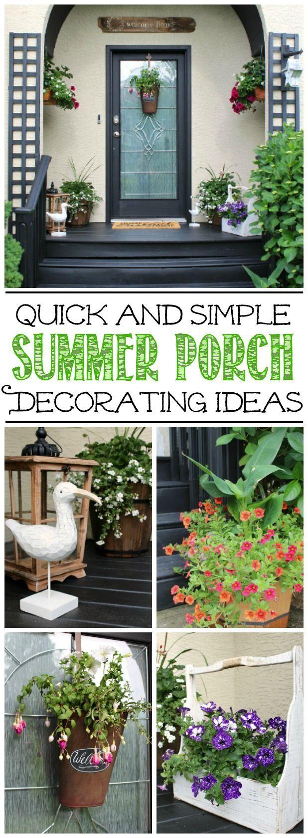 Summer Front Porch Decorating Ideas Summer Decorating