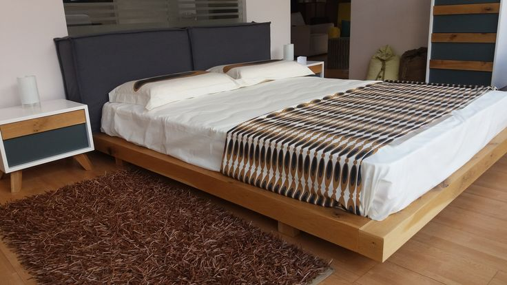 bed Cube solid oak