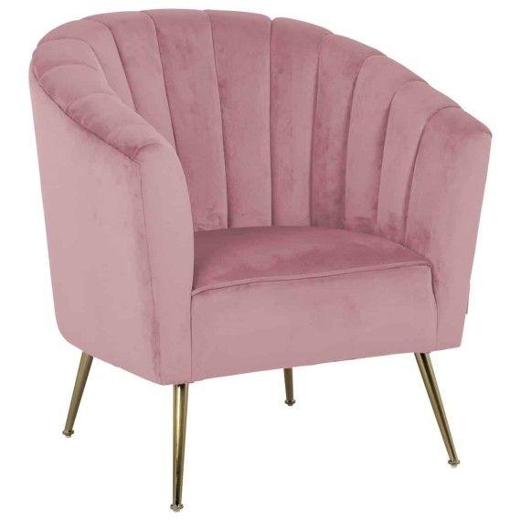 Richmond Sessel Shelly Pink Velvet Gold Mit Bildern Sessel