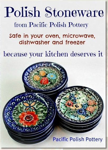 Pacific Polish Pottery and Polish Stoneware! Absolutely beautiful - from polishpotterystore.com #pottery