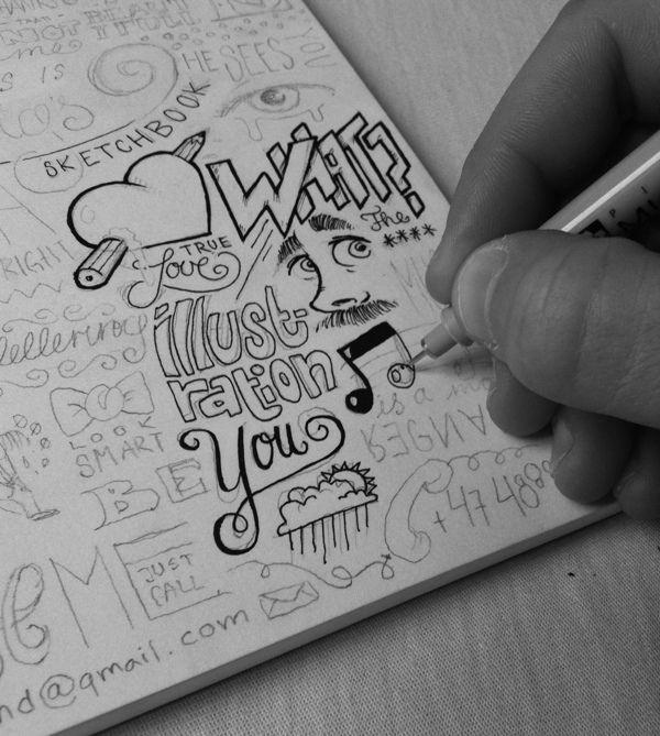 Sketchbook by Ludvig Nevland, via Behance