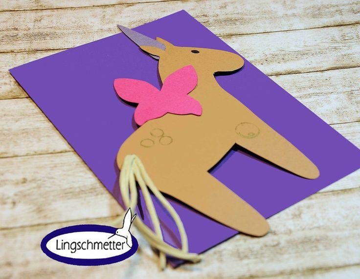 Einladungskarten - Einladung Kindergeburtstag Einhorn UNICORN - ein Designerstück von Lingschmetter bei DaWanda