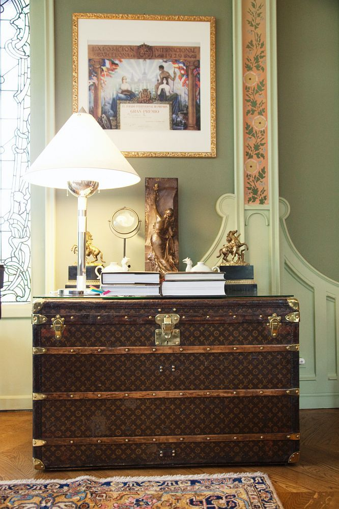 Vintage luggage - mylusciouslife.com - Louis Vuitton trunk by Todd Selby for The Selby.jpg