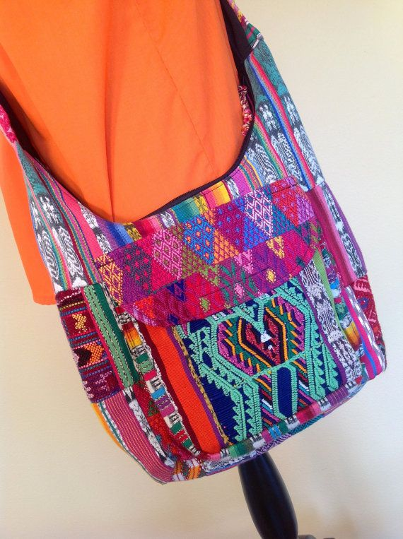Guatemalan Textile Shoulder Bag by CactusBlossomVintage on Etsy