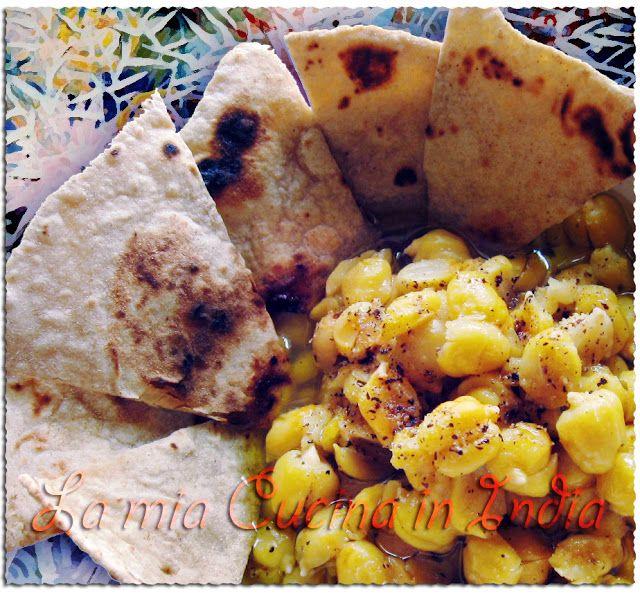 La mia cucina in India: Insalata di ceci double face