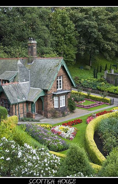 Small house with garden in Edinburgh from Princess Street gardens by Michalis Palis on Flickr