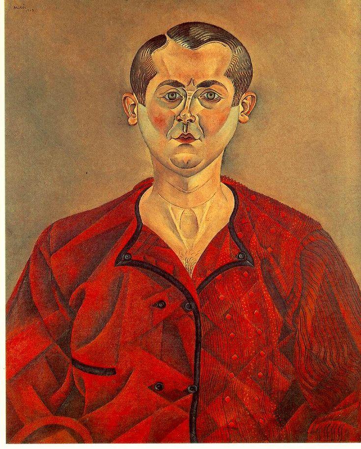 """Joan Miró i Ferrà (1893, Barcellona - 1983, Palma di Maiorca), """"Autoritratto"""" / """"Self-Portrait"""", 1919, Olio su tela / Oil on canvas, 73 x 60 cm, Musée Picasso, Paris"""
