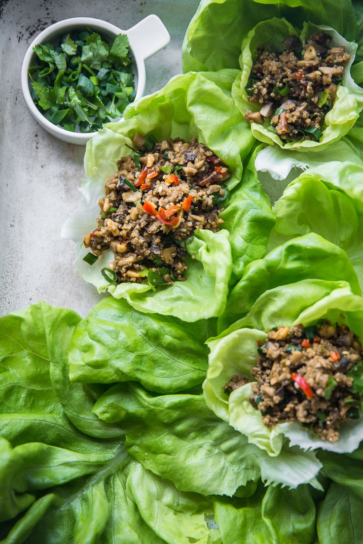 Vegan Quinoa Mushroom San Choy Bow