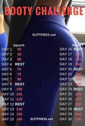 Die 30-tägige Squat-Challenge kann von jedermann ausgeführt werden, da sie wirklich einfach und – fitness exercise motivation
