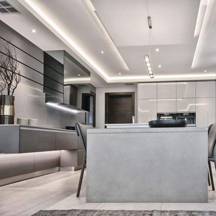 luxury kitchens by blu_line | waterfall estate  #modernkitchen #modernhome #home