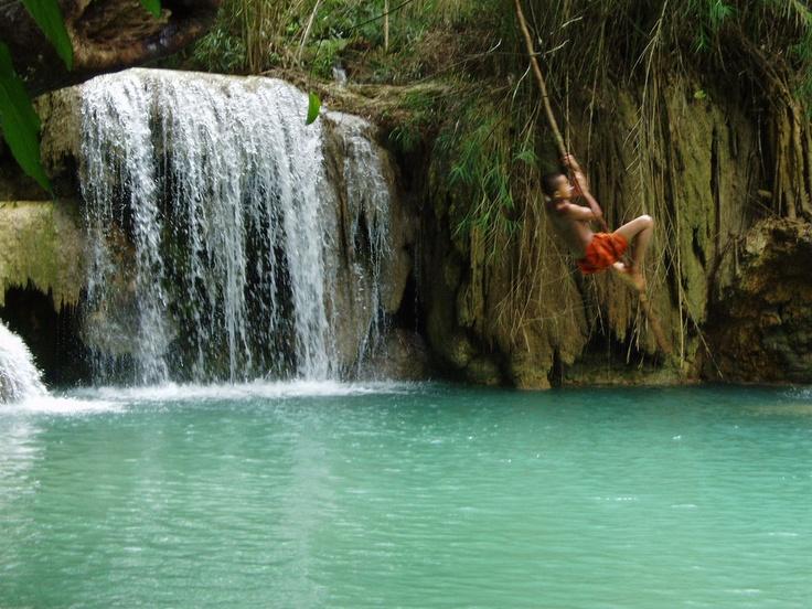 Kuangsi Waterfalls in #Laos