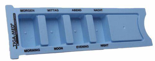 Tablettenbox Tag Medikamentendosierer 2er Set (=2St�ck) Tagesdispenser Medikamentendispenser Pillendose Tablettendose Medikamentenspender