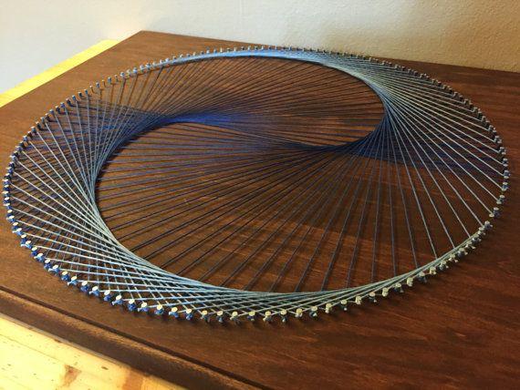 Geometric Cardioid/Yin Yang String Art by StringKits on Etsy