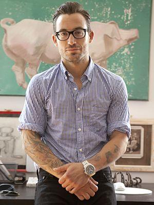 Michael Chernow, owner of The Meatball Shop: Fashion Men, Style, Glasses, Mens Fashion, Body Art, Men Fashion, Tattoo