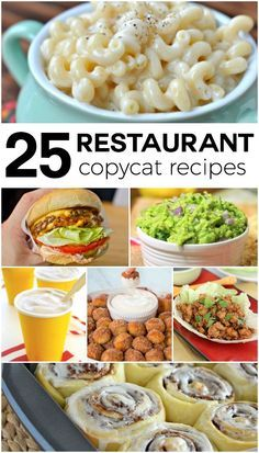 Restaurant Copycat Recipes that will wow your friends and family!