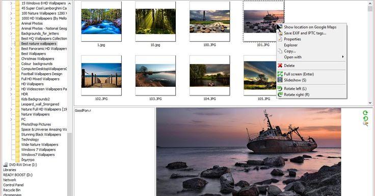 Πρόγραμμα προβολής φωτογραφιών για τα Windows που σας επιτρέπει να δείτε φωτογραφίες από την φωτογραφική σας μηχανή και να εξετάσετε τις παραμέτρους EXIF  δηλαδή τις πληροφορίες που περιλαμβάνει κάθε φωτογραφία όπως διάφραγμα την ταχύτητα κλείστρου τιμή ISO μοντέλο φωτογραφικής μηχανής την εστιακή απόσταση την ώρα την ημερομηνία τις ρυθμίσεις φλας κλπ. Το πρόγραμμα έχει ρυθμίσεις για τη βελτιστοποίηση της απόδοσης του σε αργούς επεξεργαστές. Ετσι μπορείτε να ανοίξετε ταχύτερα τις φωτογραφίες…