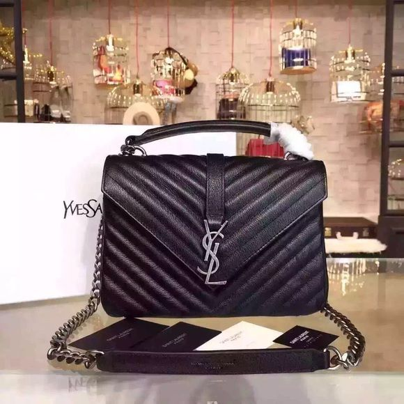 Tax free YSL CLASSIC LARGE COLLÈGE MONOGRAM Now 3 colors available! Tax free with best price, NWT&authentic guaranteed. 12.5 7.8 3.3 INCHES Yves Saint Laurent Bags Shoulder Bags