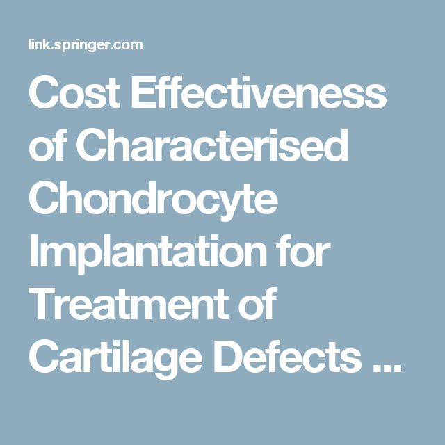 Cost Effectiveness of Characterised Chondrocyte Implantation for Treatment of Cartilage Defects of the Knee in the UK | SpringerLink