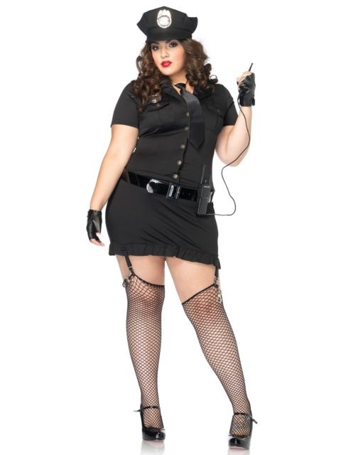 Womens Plus Size Dirty Cop Costume - Plus Size Police/Firefighter ...