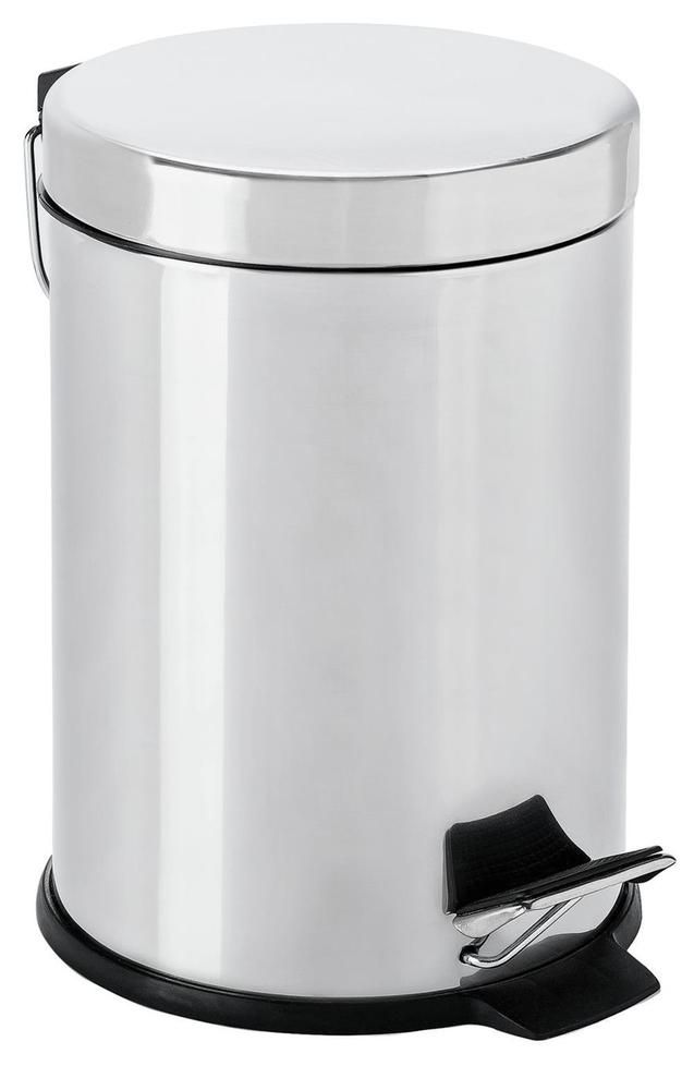 Stainless Steel Foot Pedal Bin Bathroom Trash Garbage Waste Lid