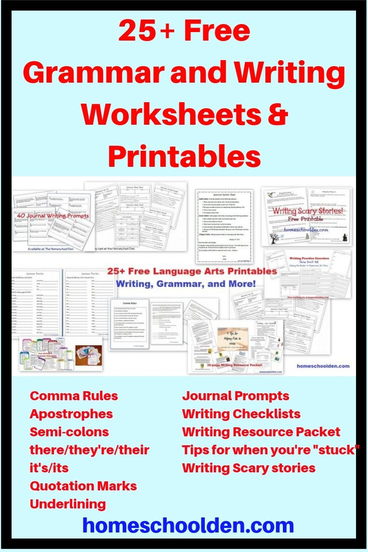 25 Free Grammar And Writing Worksheets And Printables Writing Worksheets Writing Printables Free Writing Prompts [ 1102 x 735 Pixel ]