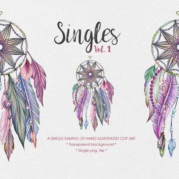 Tribal Clipart  Singles Vol.1  Dreamcatcher by JessicaOxleyAI