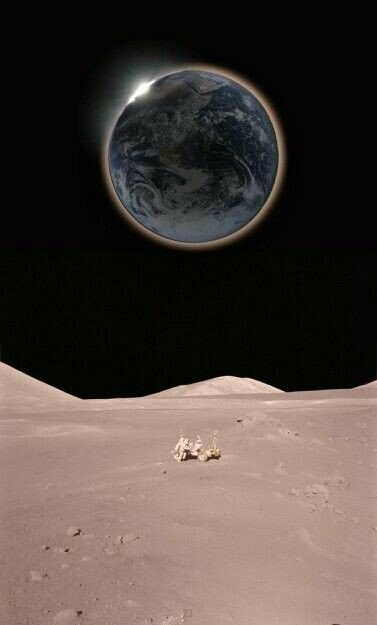 Earth and Moon .
