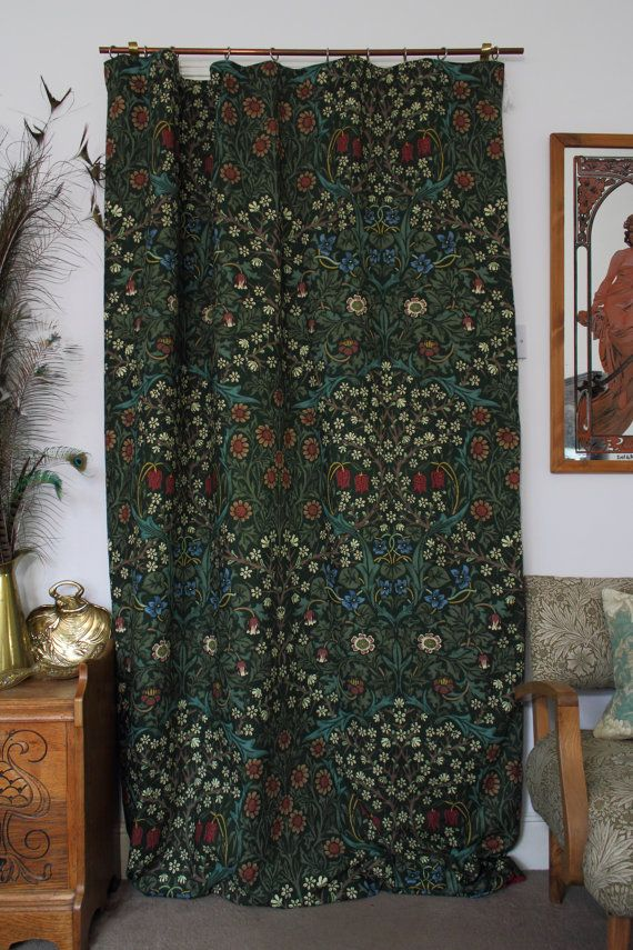 Hey, I found this really awesome Etsy listing at https://www.etsy.com/listing/253095653/william-morris-blackthorn-chenille-lined