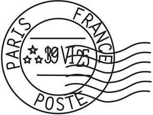 Vintage French Postmark_image