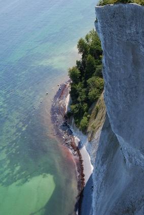 Mön's Klint - pure colours. http://reversehomesickness.com/europe/cliffs-of-moen/
