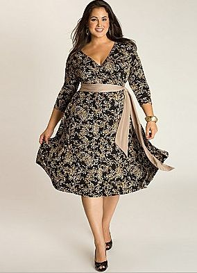 Full Figured Daphne Wrap Dress Available At Lane Bryant