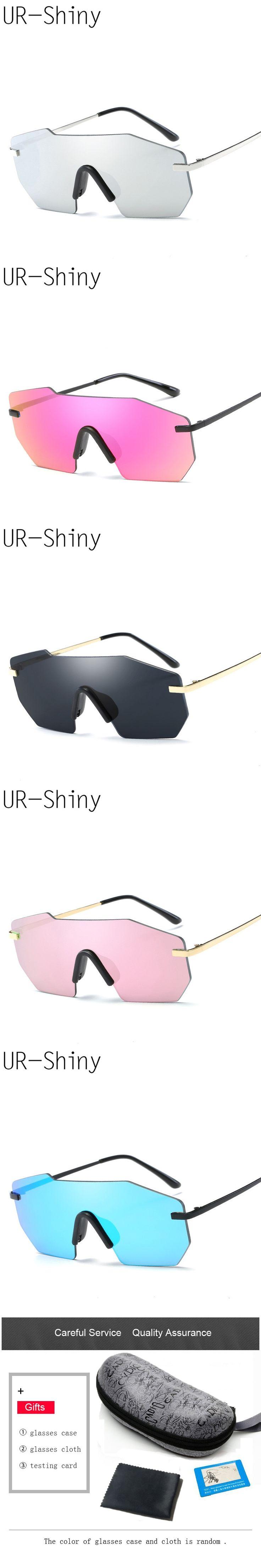 Retro Men Goggle Sunglasses Steampunk 2017 Oversized Mirror Eyewear Sun Glasses Big Frame Sunglasses For Men Women  With Case