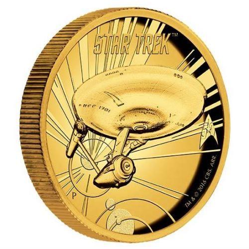 Star Trek: The Original Series U.S.S. Enterprise NCC-1701 1oz Gold Proof High Relief Coin | The Perth Mint