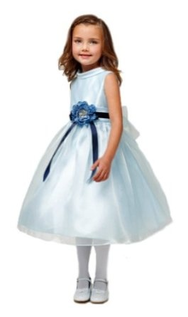 New Refined Elegance Flower Girl or Easter Sunday Dress (Assorted Colors) 2 to 10 Girls  $39.99    This is a specialty item and is not available for immediate shipment. Please allow 6-10 day lead time before shipment from our store!  New Refined Elegance Flower Girl Dress with Contrasting Ribbon Sash & Large Silk Flower Bow  Sleeveless Matte Satin Bodice with Mock Turtleneck Neckline  Organza Overlaid Illusion Skirt  Zippered Closure & Tie Sash for a Customized Fit at the Waist