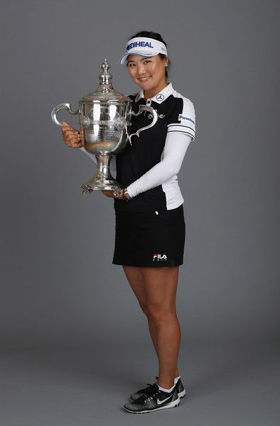 So-Yeon Ryu Photos - Co-Rolex Player of the Year So Yeon Ryu of Korea poses with the Rolex Player of the Year trophy after the final round of the CME Group Tour Championship at the Tiburon Golf Club on November 19, 2017 in Naples, Florida. - CME Group Tour Championship - Final Round
