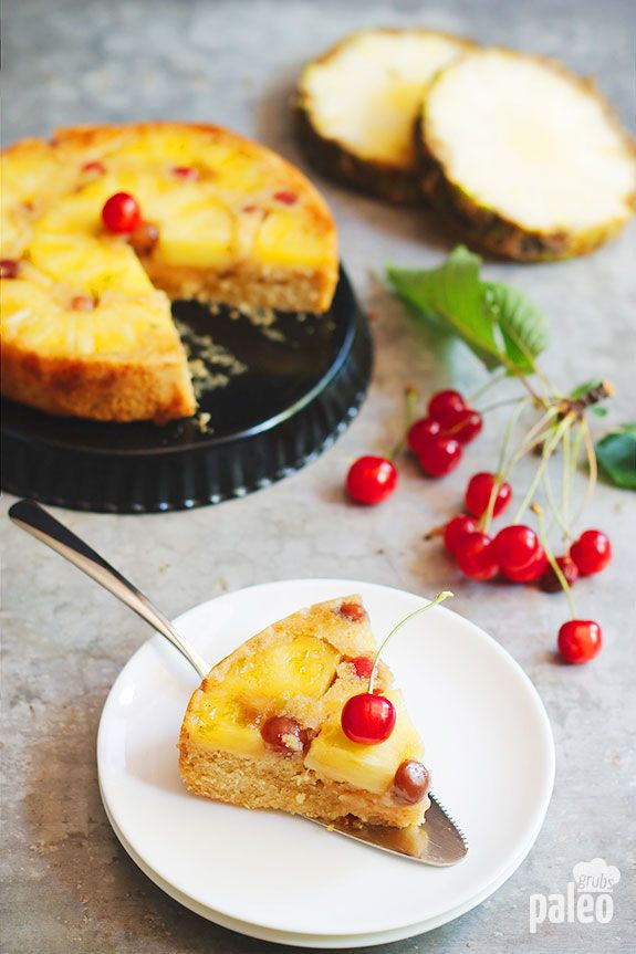 When you bake up this pineapple upside down cake you're getting fresh pineapple flavor with no grains, gluten, or refined sugar. It is vibrant and fresh pineapple upside down cake in its purest form!