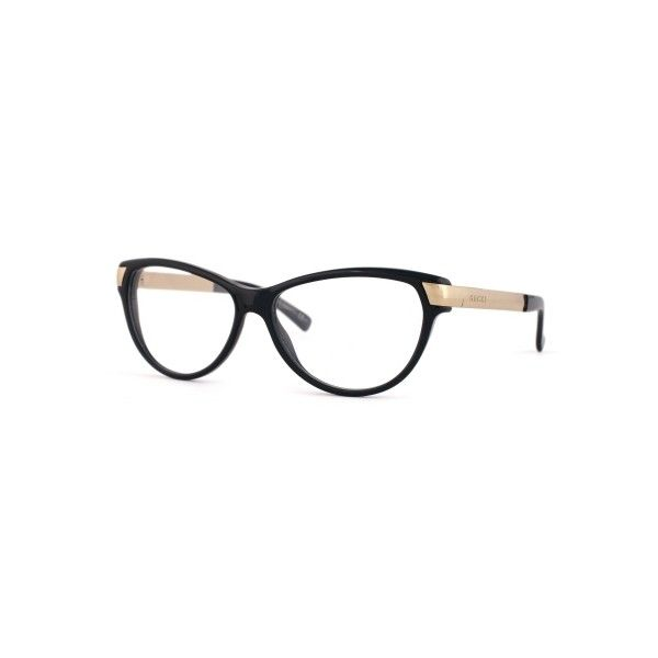 Gucci GG3652 Black Gold Eyeglasses (3.690 ARS) ❤ liked on Polyvore featuring…